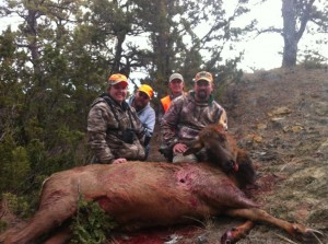 Brian and his wife Lyndsey with an elk harvested earlier this season.